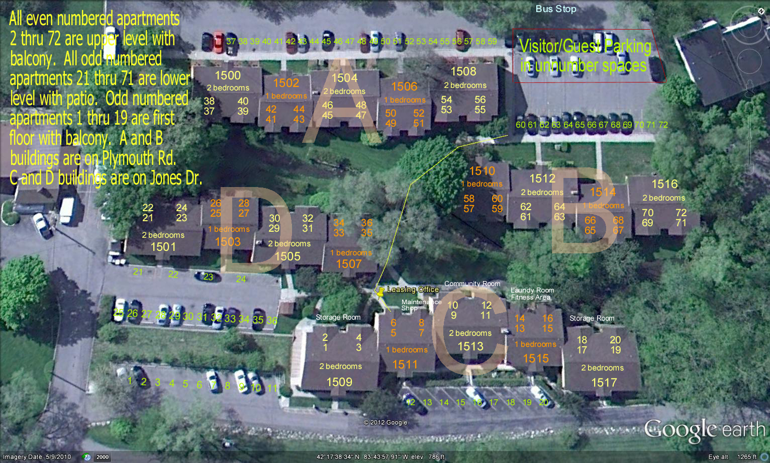 Brookside Apts Map 2